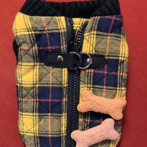 Gooby plaid dog coat